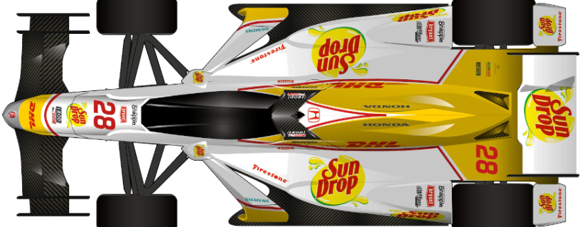 Honda and Chevrolet Body Kit Structural Stays for the Indy Car DW-12 for 2015